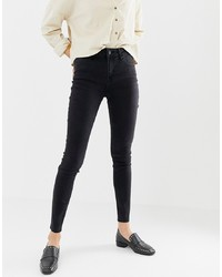 Only Pearl Mid Rise Raw Hem Skinny Jeans