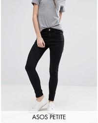 Asos Petite Petite Ridley Skinny Jean In Clean Black