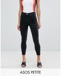 Asos Petite Petite Ridley Skinny Jean In Washed Black