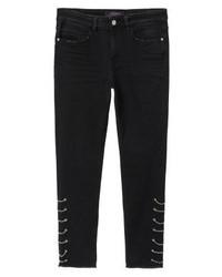 Mango Pierce I Slim Fit Jeans Black Denim