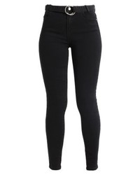 Missguided Sinner High Waist Belted Skinny Jeans Jeans Skinny Fit Black