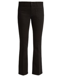 Stella McCartney Low Rise Skinny Kick Flare Cropped Jeans