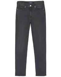 Mango Theresa Slim Fit Jeans Black Denim