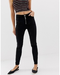 Urban Bliss Uncut Cord High Waist Skinny Jeans
