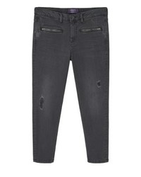Mango Vanity Slim Fit Jeans Black Denim