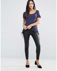 Vila Coated Skinny Pant