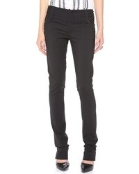 Alice + Olivia Olivia Slim Leg Pants With Wide Waistband