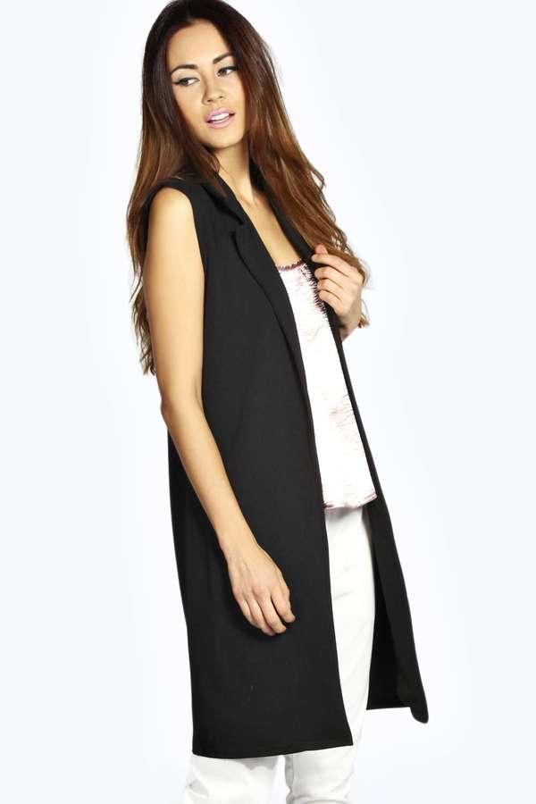 Boohoo Lara Sleeveless Duster Coat | Where to buy & how to wear