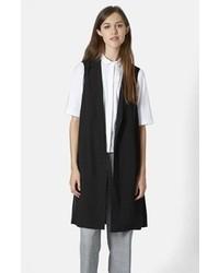 Topshop Sleeveless Side Split Coat