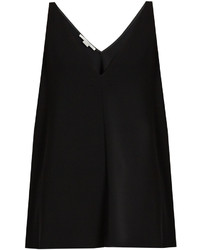 Stella McCartney V Neck Sleeveless Crepe Top