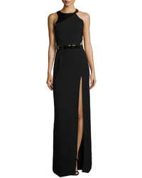 Black Slit Evening Dress