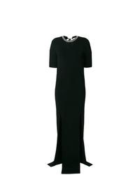 Nina Ricci Crystal Embellished Split Front Gown