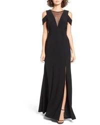 Morgan Co Illusion Mesh Gown