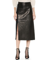 Jason Wu Leather Wool Pencil Skirt