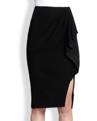 Black Slit Pencil Skirt