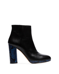 Kalda Black And Blue Toi 100 Ankle Boots