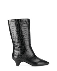 Marni Crocodile Effect Boots
