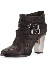 Jimmy Choo Melba Embossed Leather Bootie Black