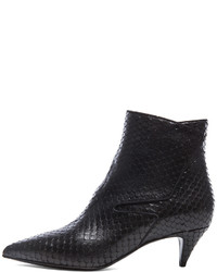 Saint Laurent Python Effect Cat Boots