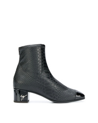 Giuseppe Zanotti Design Snake Embossed Ankle Boots