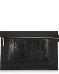 Python and leather clutch medium 118945