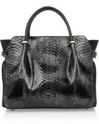 March small python and leather tote medium 111188