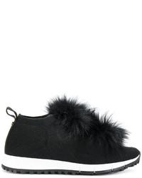 Jimmy Choo Fox Fur Sneakers