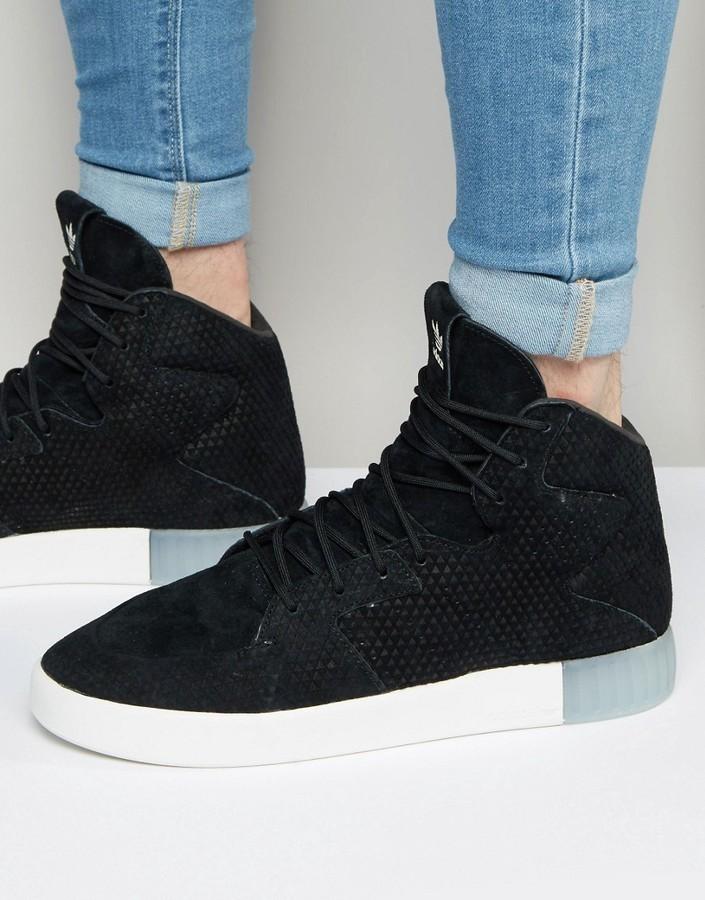 ... adidas Originals Tubular Invader 20 Sneakers In Black S76707 ...