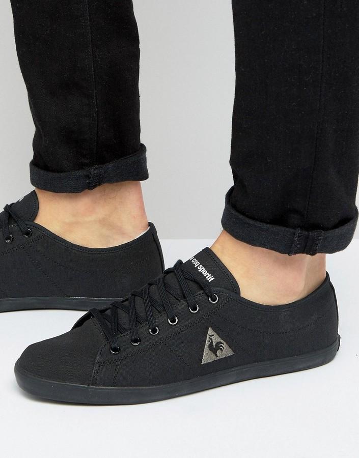 b5701923f02f ... Le Coq Sportif Slimset Canvas Sneakers In Black 1610661 ...