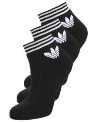 adidas 3 Pack Socks Black