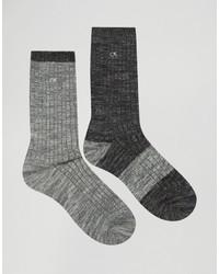 Calvin Klein Jeans Boot Socks 2 Pack Gift Set