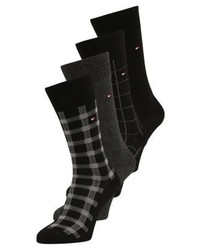 Tommy Hilfiger Cabin Box 4 Pack Socks Black