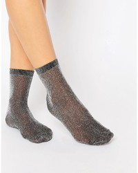 Asos Collection Glitter Ankle Socks