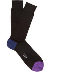 Paul Smith Contrast Trim Cotton Blend Socks