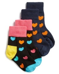 Happy Socks Cotton Blend Ankle Socks