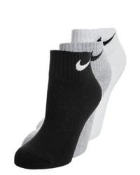 Nike Cushion Quarter 3 Pack Sports Socks Blackgreywhite