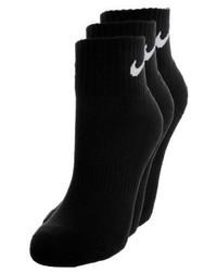 Nike Cushion Quarter 3 Pack Trainer Socks Black
