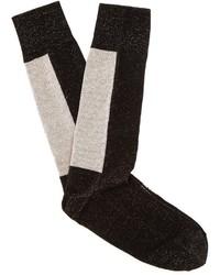 Off-White Flecked Logo Jacquard Socks