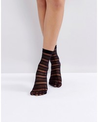 Jonathan Aston Halo Black Ankle Socks