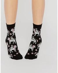 Asos Pug Riding Unicorn Ankle Socks