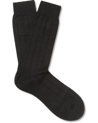 Pantherella Ribbed Sea Island Cotton Blend Socks