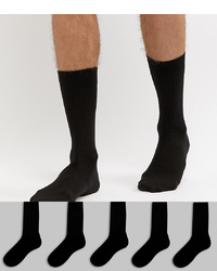 ASOS DESIGN Socks In Black 5 Pack
