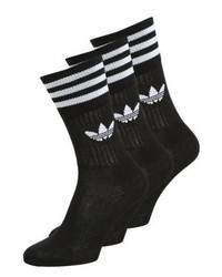 adidas Solid Crew 3 Pack Socks Blackwhite