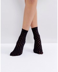 Jonathan Aston Spot Black Ankle Socks