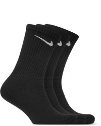 Nike Three Pack Cushioned Cotton Blend Socks