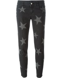 Black Star Print Boyfriend Jeans