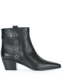 Saint Laurent Rock 40 Side Star Ankle Boots