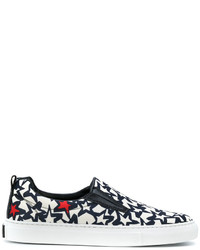 MSGM Star Print Slip On Sneakers