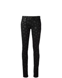 Saint Laurent Star Print Skinny Jeans