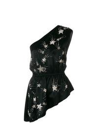 Black Star Print Sleeveless Top